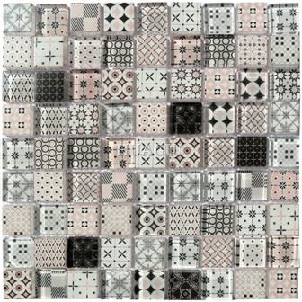 Abolos Free Flow 1*1 Susan Jablon Glass Brick Mosaic Wall Tile