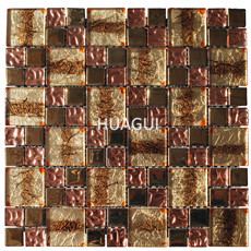 Stainless Steel Mosaic Tile Mixed Wall Paper Glass Mosaic Tile for Wall Decoration Backsplash