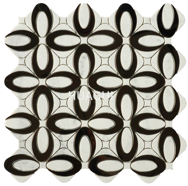 White handmade resin tiles