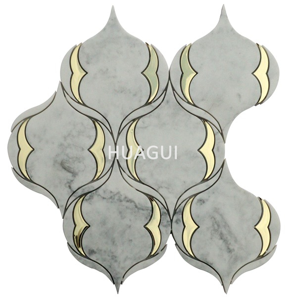White Imitation marble handmade ceramic